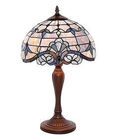 Look at this #zulilyfind! 20.5'' Blue Allistar Stained Glass Table Lamp #zulilyfinds