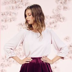 LC Lauren Conrad Runway Collection Bow-Sleeve Blouse - Women's