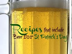 Recipes that include Beer for St Patrick's day - Tales of a Ranting Ginger