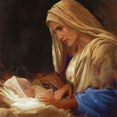 Image pieuse- Marie et l'enfant Jesus