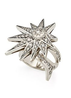 Genesis H.Stern collection. Halley ring in Noble Gold with diamonds.