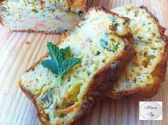 Cake courgettes, carottes, menthe fraîche