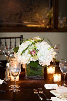 Lee James Floral, Floral Centerpiece, Wedding Centerpiece, Wedding, Wedding Reception, White Hydrangea