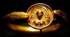 Pompeii moon goddess serpent bracelet. Solid gold, over 1lb in weight.