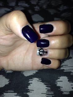 Navy blue with an anchor
