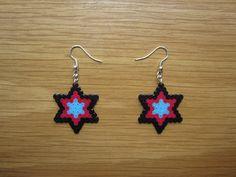 Pendientes estrella hama beads by Ursula
