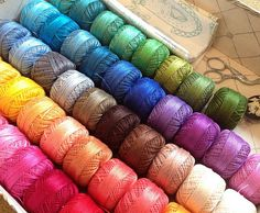 As long as I can remember I have loved looking at thread displays and all the wonderful colors.