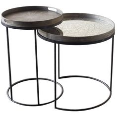 Notre Monde Set of 2 Round Tray Table Bases