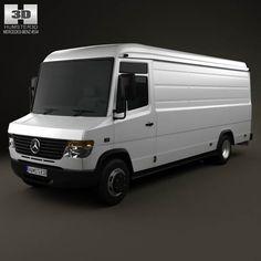 Mercedes-Benz Vario PanelVan LongWheelBase HighRoof 2011 3d model from humster3d.com. Price: $75