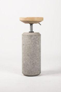 design du béton, tabouret béton, bentu design, stool