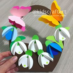 Paper Towel Roll Crafts, Paper Flowers Craft, Paper Crafts For Kids, Flower Crafts, March Crafts, New Year's Crafts, Preschool Arts And Crafts, Spring Crafts For Kids, Handmade Crafts