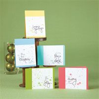 Inked Christmas Card Set | November/December 2013 | Paper Crafts | Lucy Abrams