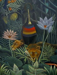 Henri Rousseau, Le rêve - The dream, detail (1910)