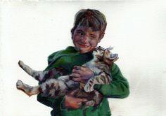 'Facewash' Watercolour on paper 21 x 15 cm