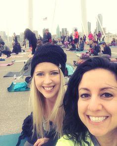 Yoga on the bridge  #yoga #namaste #dallas