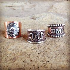 Custom handmade western rings by Silo Silver