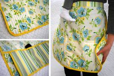 Another apron with built in hot pads and this one has a secret phone pocket...