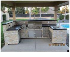 Modular Outdoor Kitchens, Kitchen Modular, Outdoor Kitchen Bars, Outdoor Kitchen Design, Barbacoa, Patio Grill, Restaurant, Diy On A Budget, Home Kitchens