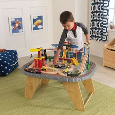 Transportation Station Train Set And Table Toy