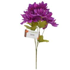 Floral Garden faux purple dahlia flowers make a grand decorating accent! Plus, wired stems let you bend and shape to suit your needs making them perfect for faux floral craft projects. Dollar Tree Wedding, Dollar Tree Fall, Purple Dahlia, Dahlia Flowers, Fake Flowers, Accent Decor, Fall Decor, Wedding Flowers, Craft Projects