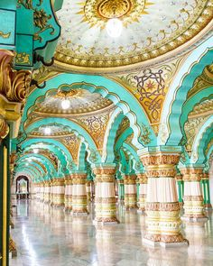 House goals! This is a ceremonial hall in the massive Mysore Palace.  @lostwithpurpose