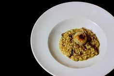 Steinpilz- Orangen- Risotto mit karamellisierten Jakobsmuscheln / http://piasdeli.de/Rezept/steinpilz-orangen-risotto-mit-karamellisierten-jakobsmuscheln/