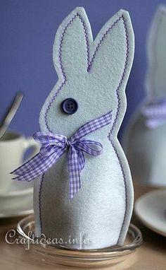 Felt Easter Bunny Egg Cosy 2
