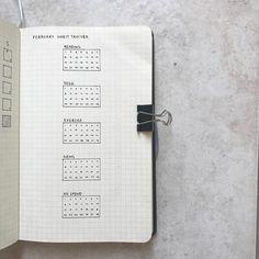 Bullet journal monthly habit tracker, minimalist bullet journal habit tracker. | @bulletjournal.emily