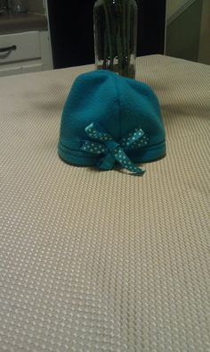 TheDailyMe: Fleece Hat with Ribbon