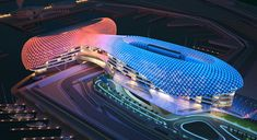The YAS Viceroy Hotel in Abu Dhabi (VIDEO). Glamorous Modern Architecture. Read more at jebiga.com