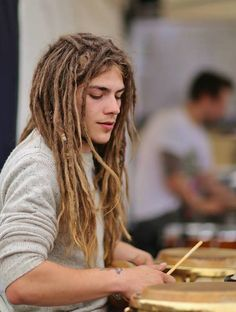 boy with dreads.