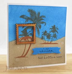 Waltzingmouse Inspiration Blog: Stamps Used - Chillax - My Island, Frame It, and Good Egg Dies