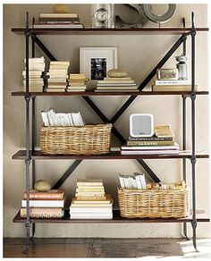 Bookshelf organizing ideas. I wish all of my books were this attractive!