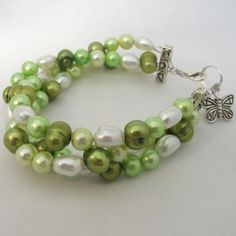 Summer Green Freshwater Pearls