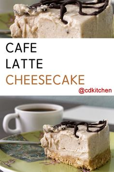Cafe Latte Cheesecake - A rich and creamy coffee infused cheesecake with a sweet. - Cafe Latte Cheesecake – A rich and creamy coffee infused cheesecake with a sweet vanilla wafer cr - Coffee Cheesecake, Cheesecake Recipes, Dessert Recipes, Vanilla Wafer Cake, Kinds Of Desserts, Coffee Dessert, Savoury Cake, Coffee Recipes, Sweet Recipes