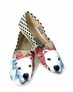 wonderful pet lover Akita Dog Print Slip ONS for Women
