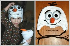 Olaf hat sized for adults too
