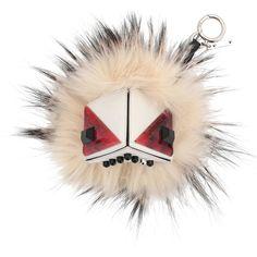 Fendi Prism Triangle Monster Fur Purse Charm (€940) ❤ liked on Polyvore featuring jewelry, pendants, accessories, fendi, white multi, fendi charms, charm pendant, fur charm and fendi jewelry