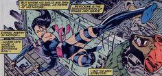 Comic Book Pages, Comic Books, Psylocke, Jim Lee, Panel Art, Marvel Universe, X Men, Comic Art, Marvel Comics