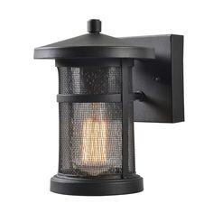 Design Craft Wilson 9-inch Mesh 1-Light Outdoor Wall Lantern