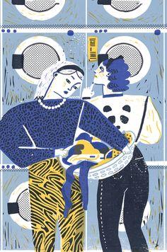at the laundrette by irene rinaldi, via Behance