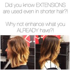 Extensions for #shorthair #topknotextensions #tkhair