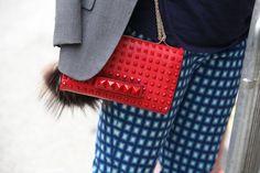 Valentino red- street style