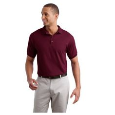 The Custom Branded Embroidered 5.6 oz Polo DryBlend has moisture wicking properties and a tag-free label. It has a contoured welt knit collar and cuffs, and a 3-button clean-finished placket with reinforced bottom box. Also features wood-tone buttons and double-needle hem.