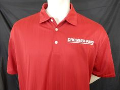 Nike Golf Dresser Rand Embroidered Logo Polo Shirt Size XL New Dri Fit Wicked #NikeGolf #PoloRugby