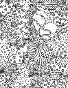 Adult Heart Coloring Pages Fresh the Hearts Have It Printable Adult Coloring Page Abstract Coloring Pages, Heart Coloring Pages, Valentine Coloring Pages, Printable Adult Coloring Pages, Coloring Pages For Girls, Free Coloring, Coloring Sheets, Coloring Books, Christmas Coloring Pages