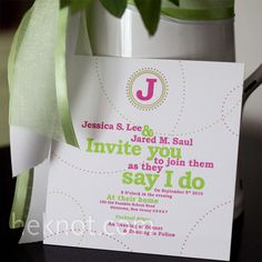 Something like this for the invitations, I think.