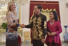 Queen Maxima visits Indonesia 3rd day.