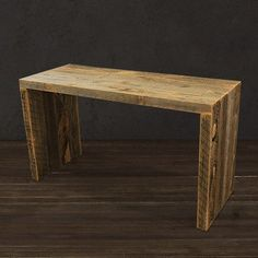 Rescued ~ Reborn The Collins Console Table is created from reclaimed Wyoming wood snow fence for a modern yet rustic feel. This console table is great for your entryway or living room. The hairpin leg