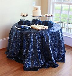 ShinyBeauty Navy Blue Sequin Tablecloth (108''Round) Shin... http://www.amazon.com/dp/B00RZ7YZOI/ref=cm_sw_r_pi_dp_Rqesxb1CT4KGQ